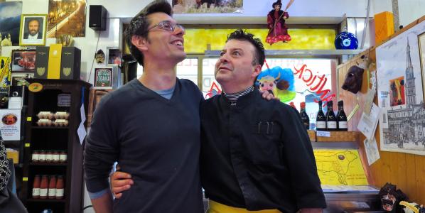 Daniele Reponi,re del panino in Italia(Prova del Cuoco Rai Uno)King of the sandwich in Italy…Butcher Ghioldi,the sandwich of happines